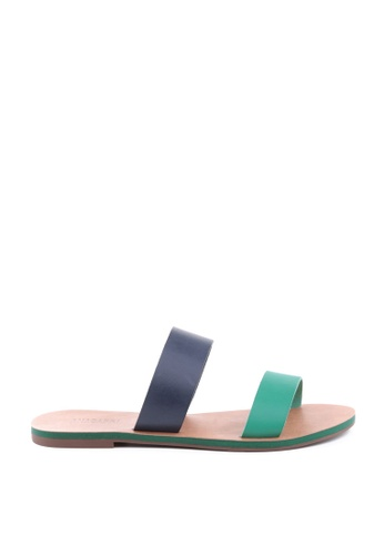 Anacapri 多色 Stripes Flat Sandals 43978SH67AD78FGS_1
