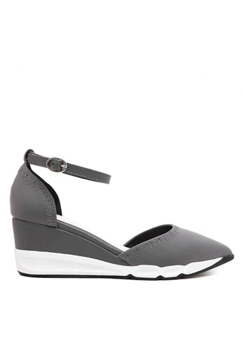 Twenty Eight Shoes grey Elastic Fabric EVA Wedge Sandals VL9365 TW446SH2UXEHHK_1