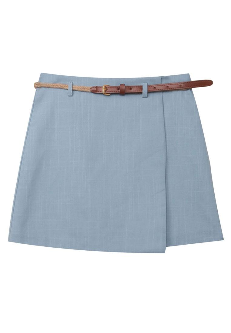 With Eyescream Braided Skirt Belt Blue Minimalist Wrap Mini xxpqwnfa