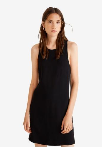 Mango black Print Bow Dress 9B43FAA9F5C32FGS_1