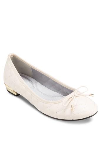 蝴esprit au蝶結菱格紋低跟鞋, 女鞋, 鞋