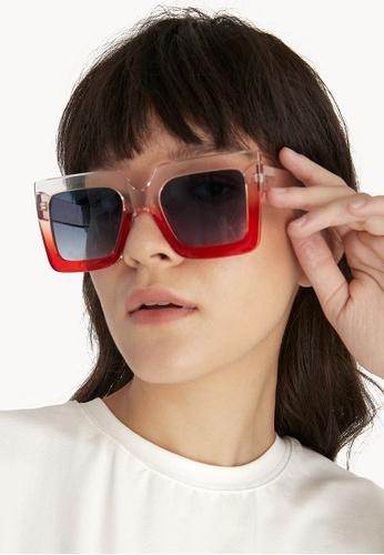 ae122d6c68 Buy Pomelo Gradient Square Sunglasses - Pink Online