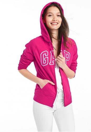 Gap pink Arch Logo Zip Hoodie 20DE0AAAFC19A7GS_1