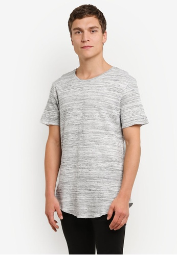 Factorie grey Short Sleeve Curved Tall Waffler Tee FA880AA0RPM3MY_1