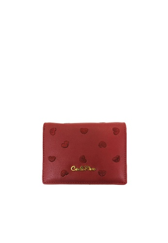 Carlo Rino red Carlo Rino Maroon Love All Around Bi-fold Wallet CB3D7AC1D3FA33GS_1