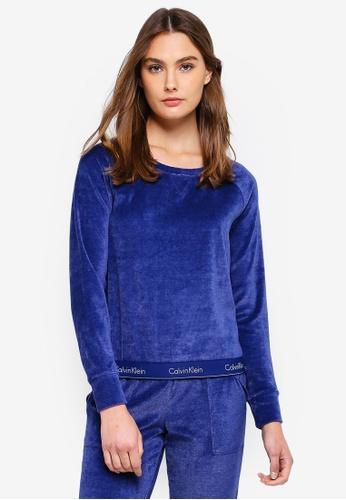 Calvin Klein blue Modern Cotton Long Sleeve Sweatshirts - Calvin Klein Underwear 13E31AAAFF0E99GS_1