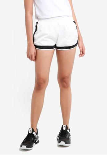 Penshoppe white Runners Shorts With Elastic Waistband 2A7B9AA372838EGS_1
