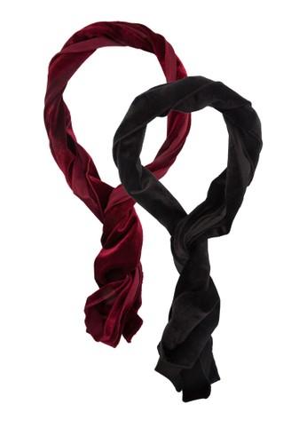 二入絲絨感領巾, 飾esprit旗艦店品配件, Double Denim