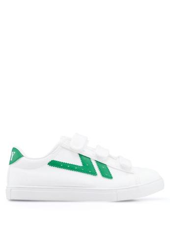 Kolca 白色 and 綠色 Swallow Sneakers 82C82SH2BB832AGS_1