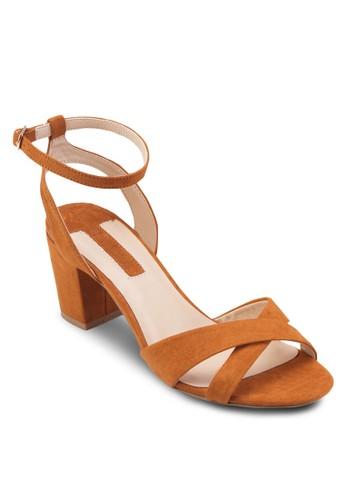 Tan Rada X Front Block Heels、 女鞋、 燦色奪目DorothyPerkinsTanRadaXFrontBlockHeels最新折價