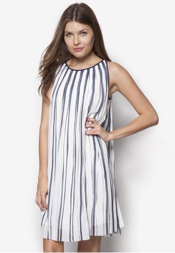 條紋無袖esprit童裝門市連身裙, 服飾, 洋裝