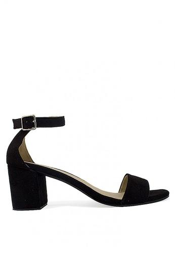 Zanea Shoes black Ankle Strap Block Heel Sandals 9500CSHA87C4ECGS_1
