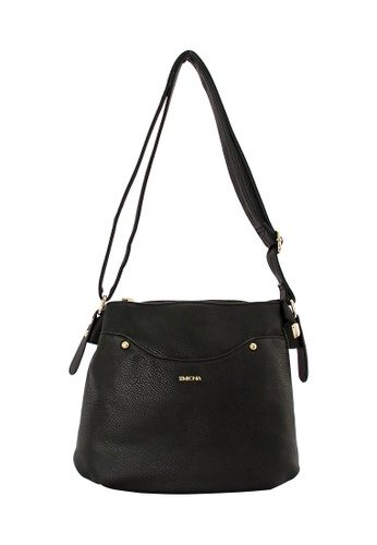 SEMBONIA black SEMBONIA Synthetic Leather Crossbody Bag (Black) C16A7ACE3CDB55GS_1