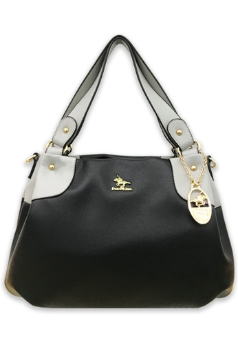 Polo Hill black Polo Hill Two Toned Soft Tote Black 59410ACEAE5EF8GS_1