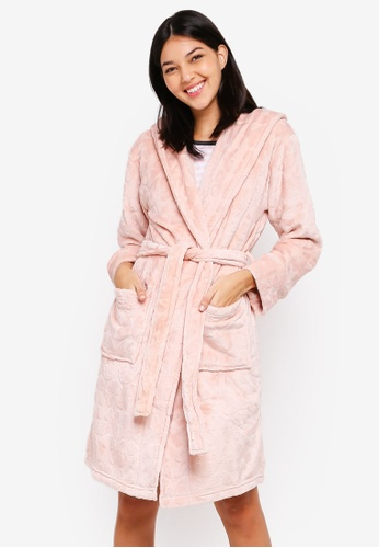 Dorothy Perkins pink Blush Butterfly Clipped Robe 03C4DAA299BC71GS_1