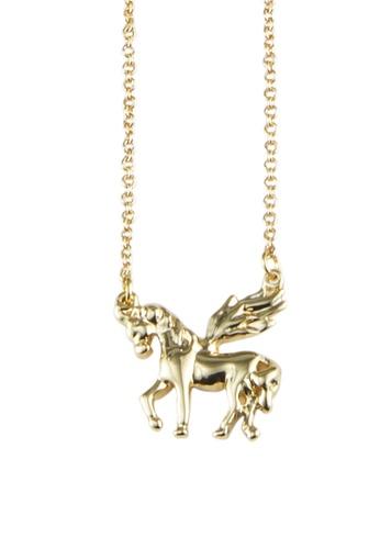 My Flash Trash gold Unicorn Necklace 3D2CAAC7071A01GS_1