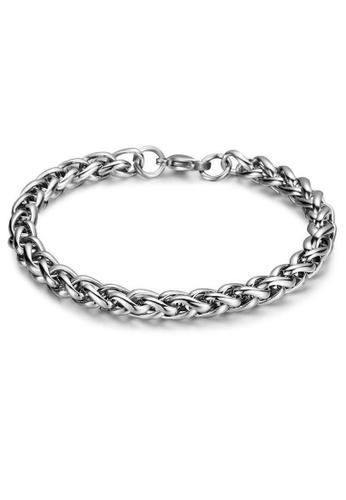 CUFF IT silver 21CM Stainless Steel Franco Chain Bracelet 8CF84AC41405FBGS_1