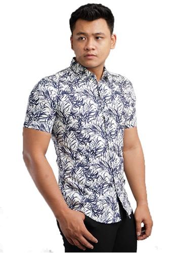 UA BOUTIQUE white Short Sleeve Shirt Batik SSB120-021 (White) 2BF28AA3485599GS_1