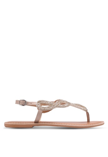 Dorothy Perkins pink Leather Nude Fallon Sandals 47689SH8AF285DGS_1