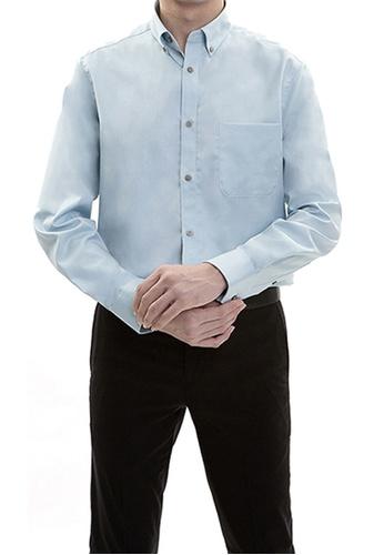 Goldlion blue Goldlion Nanotech Wrinkle Free Long-Sleeved Shirt 37CD0AA800033EGS_1