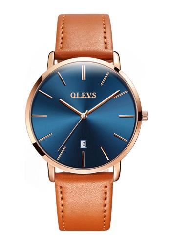 OLEVS multi Olevs Ultra Light Women Calendar Leather Quartz Watch 35929AC1CC31AFGS_1