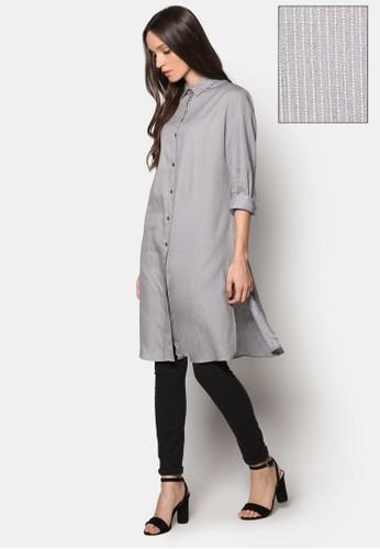 長版青年布條紋襯衫, 服飾, 女性esprit香港門市服飾