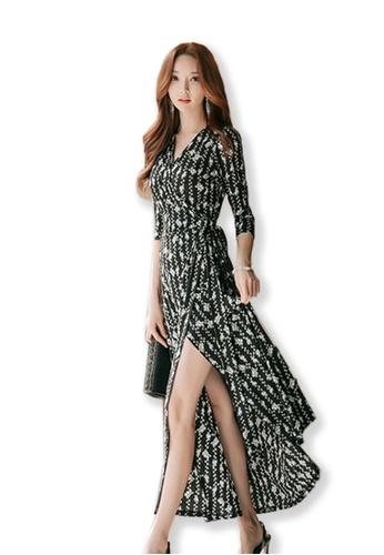 b26036227c2f2 Buy Sunnydaysweety Printed Wrap Maxi Dress UA091903 Online on ZALORA ...