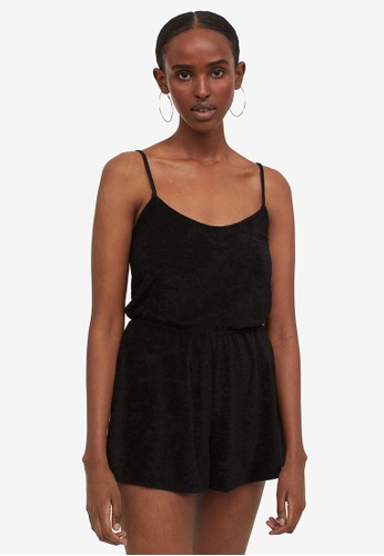 H&M black Casual Playsuit 4A909AAD5B3401GS_1