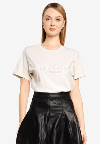 Miss Selfridge pink Stone St Tropez T-shirt 4CF0DAAF248F6FGS_1