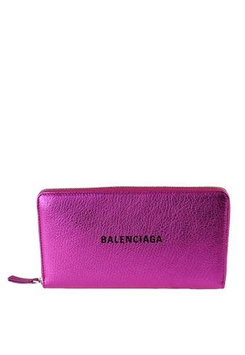 Balenciaga pink Every Day Logo Card Holder  (zt) 4C93FAC7936017GS_1