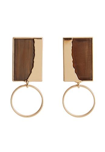 Mango gold Mixed Resin Earrings 9D47AAC151FA16GS_1