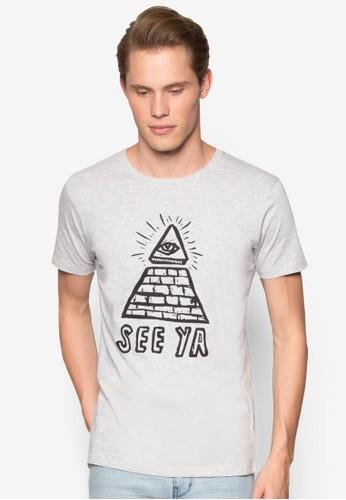 文字訊息純棉TEE, 服esprit 包飾, T恤