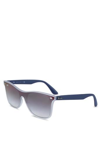 Ray-Ban 白色 RB4440NF Sunglasses 78AB1GL2974258GS_1