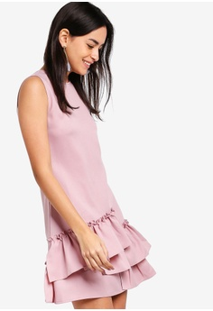 dca0f1a53d ZALORA pink Ruffle Hem A-Line Dress A27FCAA31AF741GS 1