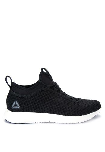 Reebok black Reebok Plus Runner Woven Running Shoes RE600SH0J2IUPH_1