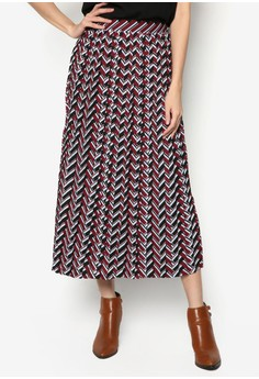 Geometric Pattern Maxi Skirt