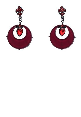 紅鋯石esprit香港分店吊飾耳環, 飾品配件, 首飾