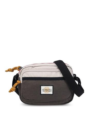 Kipling brown and multi and beige Sisko Small Crossbody Bag C7E35ACF814048GS_1