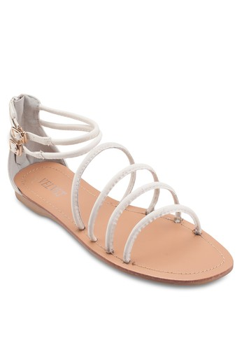 Pennzalora 衣服尺寸y Four Strap Front Sandals, 女鞋, 鞋