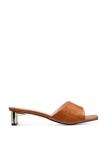 nose brown Mock Croco Chrome Heels 310A5SH46D6267GS_1