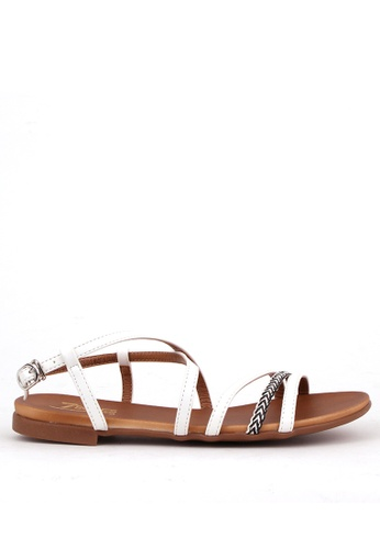 7soles white Lalaine Ladies Strappy Sandals E4ADDSH2A7ADCEGS_1
