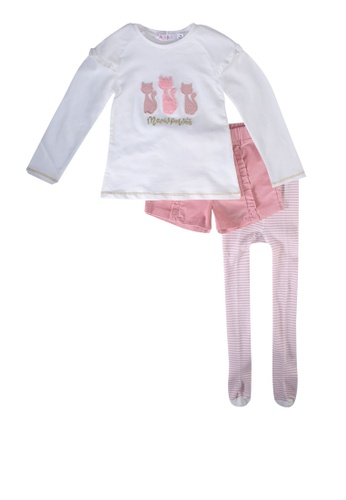Babybol pink 2 Pieces Set With Tights 54873KAEB7E0DFGS_1