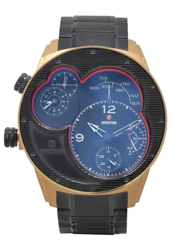 Expedition black Expedition Jam Tangan Pria - Black Rosegold - Stainless Steel - 6737 MTBBRBA A4E00ACCAD7150GS_1