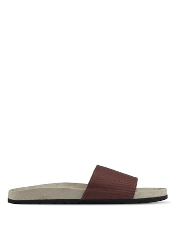 JAXON brown Essential Faux Suede Pool Sliders 210E3SH5FC51A8GS_1