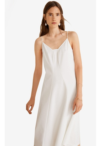Mango white Seam Crepe Dress 2B902AA0E05B4FGS_1