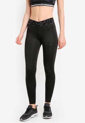Calvin Klein black Premium Bonding Full Length Leggings - Calvin Klein Performance CA221AA0RN3XMY_1