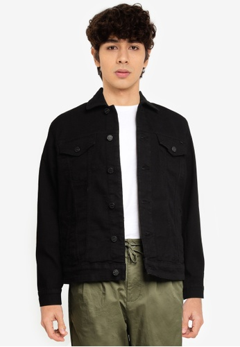Only & Sons black Colour Trucker Jacket C1539AAFFD8457GS_1