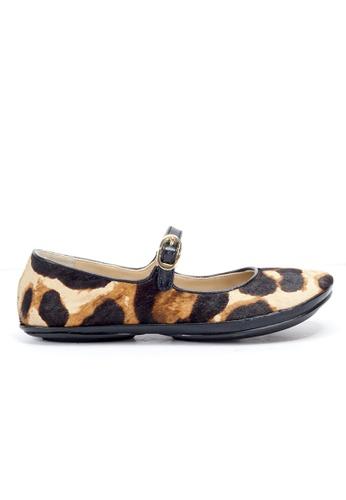Shu Talk multi Mary Jane Leopard Horse Hair Shoes SH397SH0H60BSG_1