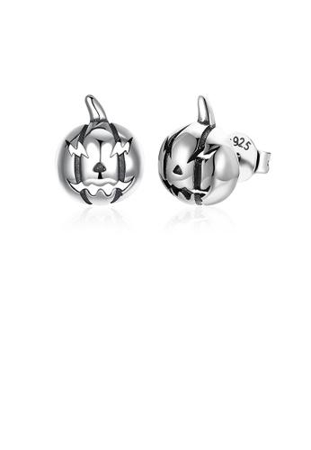 Glamorousky silver 925 Sterling Silver Fashion Vintage Pumpkin Stud Earrings BC1F8AC1407C1FGS_1
