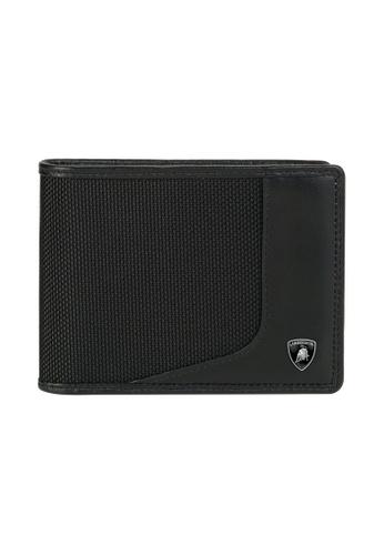Lamborghini black Automobili Lamborghini® Wired Black Wallet with coin purse 607AFACC19125AGS_1